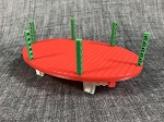 Flat Car Partial Built Up-Christmas Fun-Red-Green-White